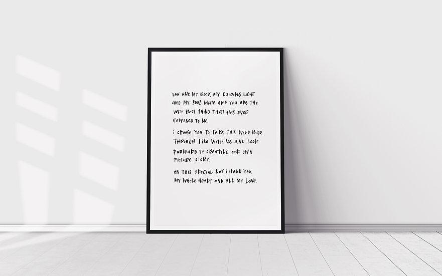Custom Lettering Art - 30 to 60 words
