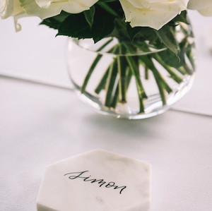 Custom lettering for weddings, events and styling by Hardinghand