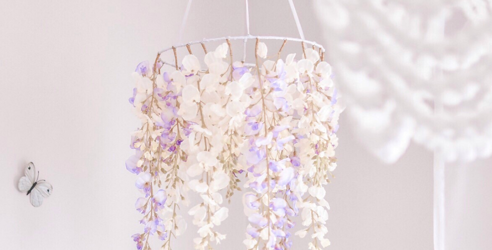 WHIMSICAL WISTERIA FLOWER CHANDELIER
