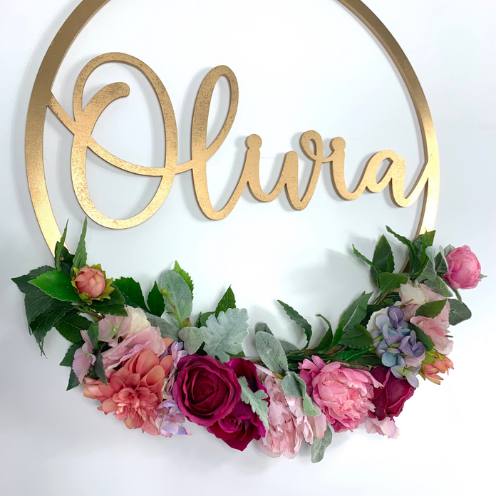 Personalised name hoops - Once Upon A Flower