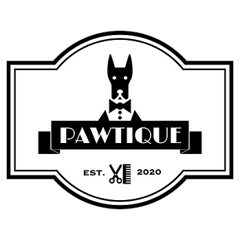 pawtique dog grooming logo