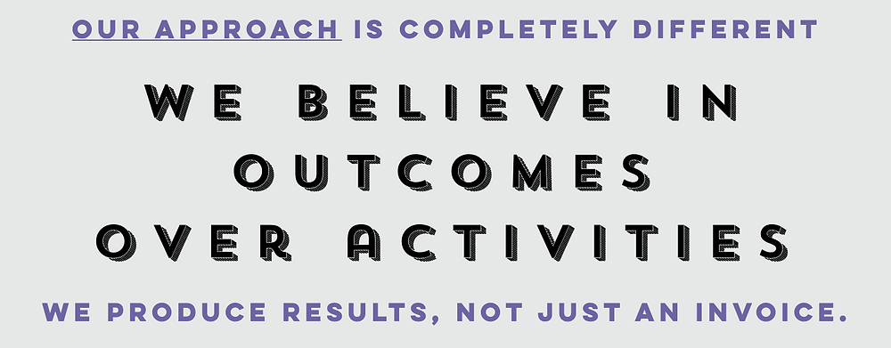 Outcomes over Activities.  Learn more at https://www.auldconsultingllc.com