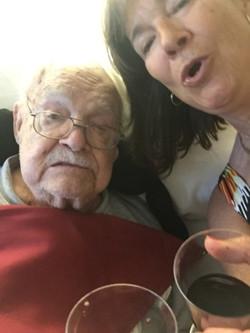 Wine Selfie with Dad