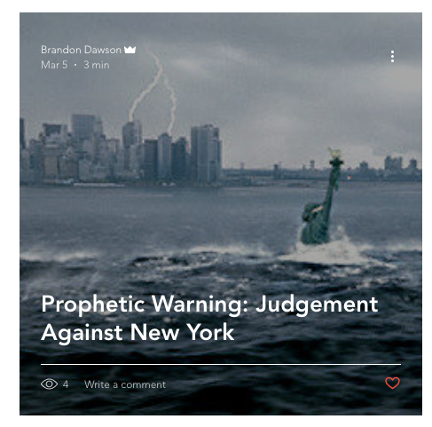 Prophecy against New York
