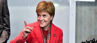 Sturgeon is like the Cat that got the Cream. She ticked off men. football and Aberdeen. All in one day.