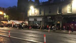 Queues outside Soul Bar, Aberdeen. Social distancing is the last thing on their minds.