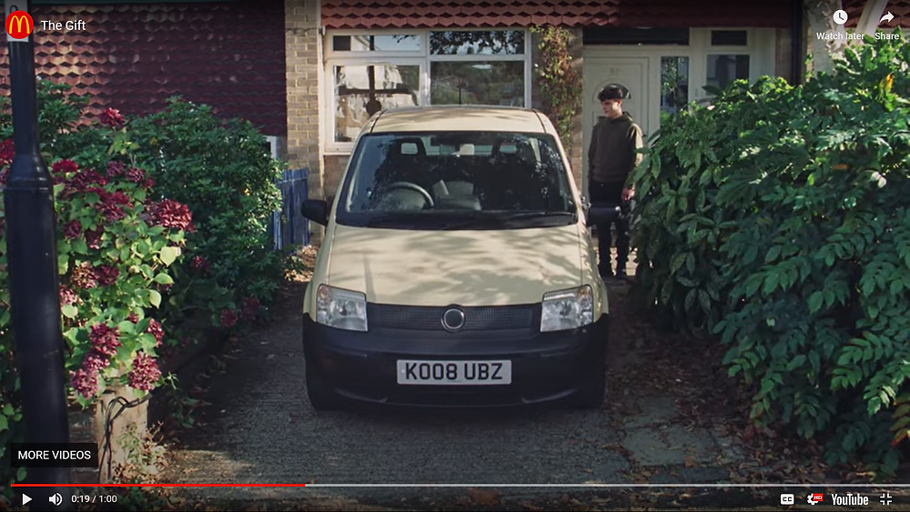 McDonald's car in tv advert has another car's registration. Is that legal?