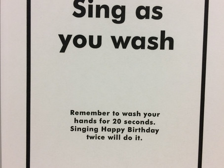 Sing while you wash your hands? - don't tell Sturgeon !