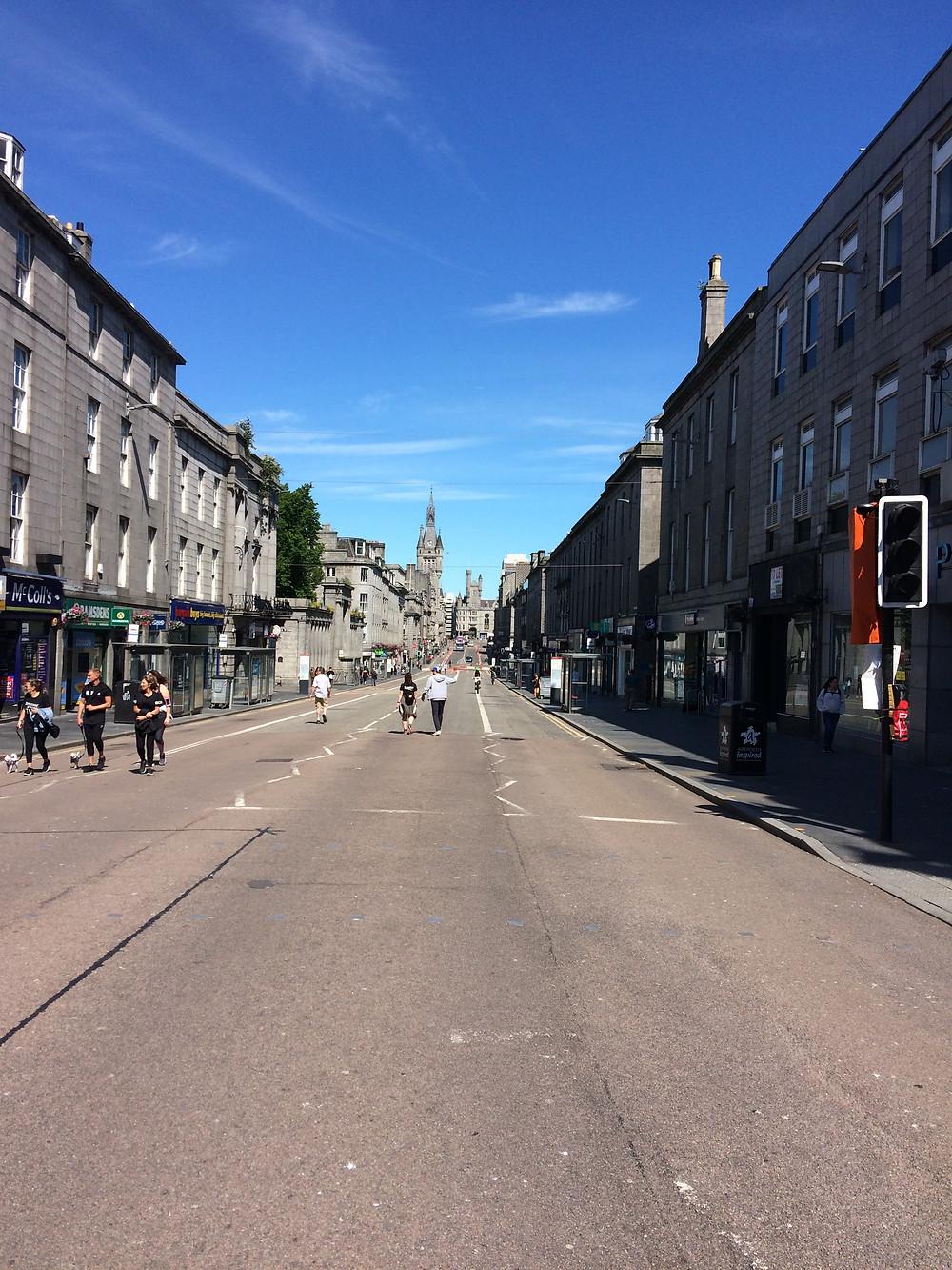 Partial pedestrianisation of Union Street.
