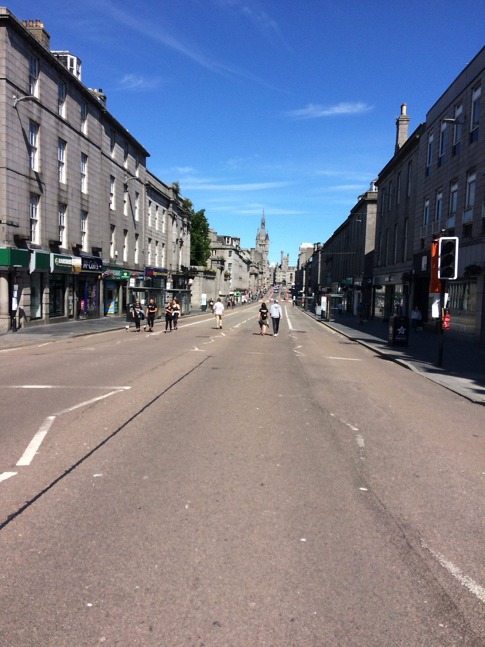 Union Street, Aberdeen - the most entertainment you will get in the next few weeks