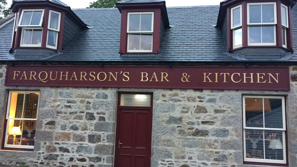 Farquharson's Bar and Kitchen, at Braemar. AB35.
