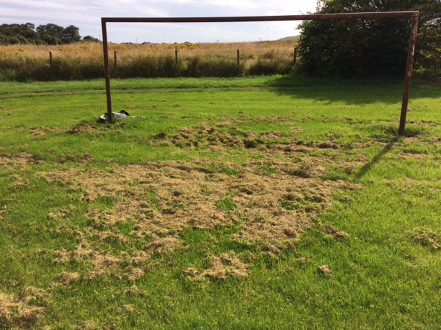 Football pitch unplayable because Aberdeenshire Council won't pick up cuttings