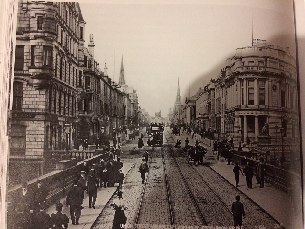 Union Street looking west from Union Bridge, 1890s