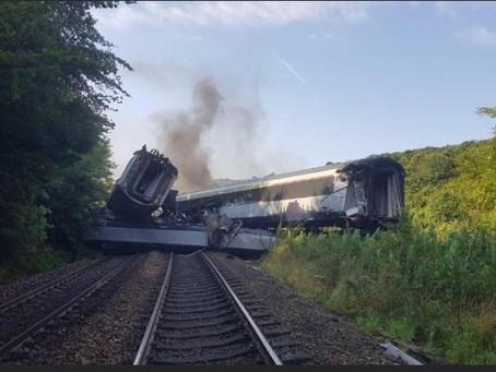 Photos from Stonehaven train derailment 12 Aug 2020