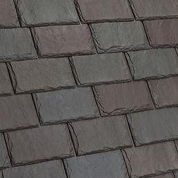 Kansas City DaVinci Roofscapes Single-Width Slate - Brownstone-VariBlend Swatch