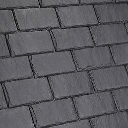 Kansas City DaVinci Roofscapes Single-Width Slate - Smokey Gray-VariBlend Swatch