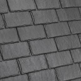 Kansas City DaVinci Roofscapes Single-Width Slate - Slate Gray-VariBlend Swatch