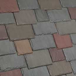 Kansas City DaVinci Roofscapes Multi-Width Slate - Vineyard