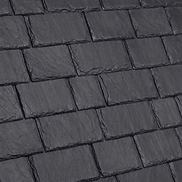 Kansas City DaVinci Roofscapes Multi-Width Slate - Slate Black