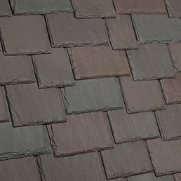 DaVinci Roofscapes Multi-Width Slate Brownstone Swatch Omaha