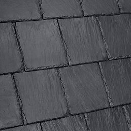 Kansas City DaVinci Roofscapes Bellaforte Slate - Slate Black-VariBlend Swatch