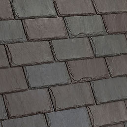 DaVinci Roofscapes Single-Width Slate Brownstone-VariBlend Swatch Omaha