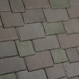 Kansas City DaVinci Roofscapes Multi-Width Slate - Weathered Green