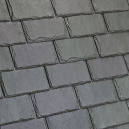 DaVinci Roofscapes Single-Width Slate Evergreen-VariBlend Swatch Omaha