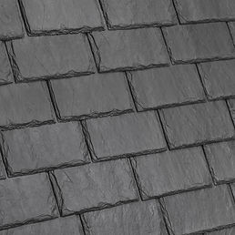 DaVinci Roofscapes Single-Width Slate Slate Gray-VariBlend Swatch Omaha