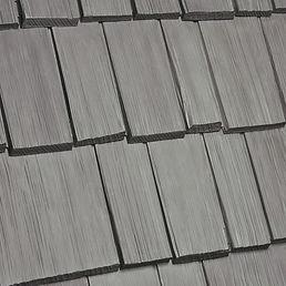 Kansas City DaVinci Roofscapes Bellaforte Shake - Chesapeake-VariBlend