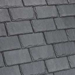 Kansas City DaVinci Roofscapes Single-Width Slate - Castle Gray-VariBlend Swatch