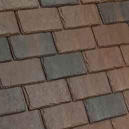 DaVinci Roofscapes Single-Width Slate Canyon-VariBlend Swatch Omaha