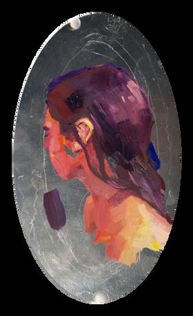'Sofie I Study'  23x13 cm oilpaint on wood 2020