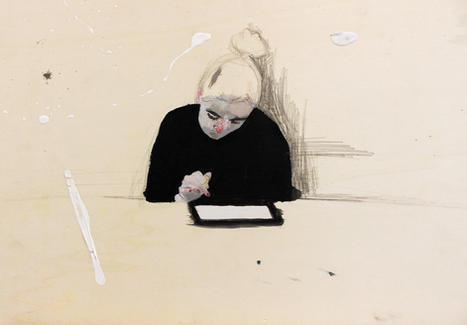 -SOLD-   'Emma Study'  41,5 x 31,5 cm acrylic on wood 2016