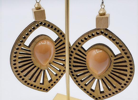 Laser Cut Wood Earrings (006)