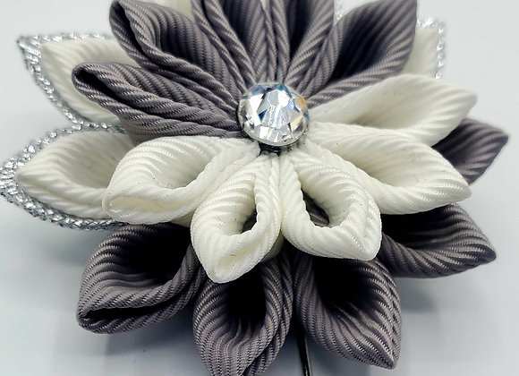 Snowflake in Grey, White and Silver