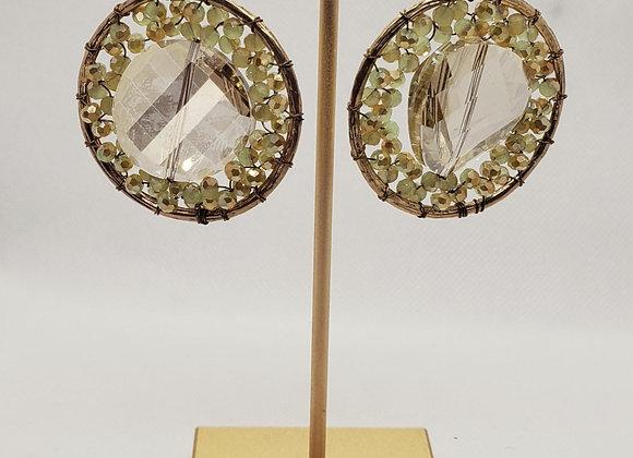 Inner Circle Crystal & Gold Earrings