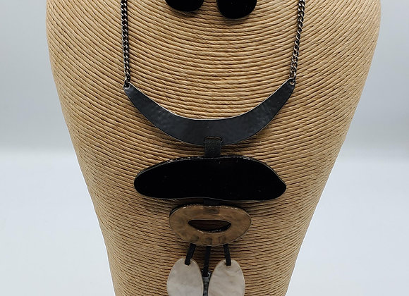 Acetate Pendant Necklace Set (Shadow)