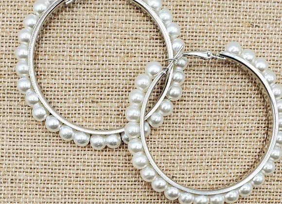 Silver Reinforced Metal Hoops