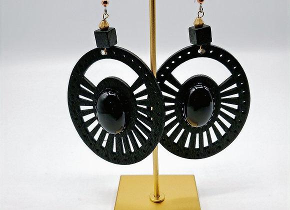 Laser Cut Wood Earrings (008)