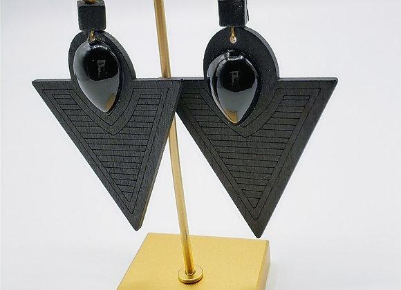 Laser Cut Wood Earrings (010)