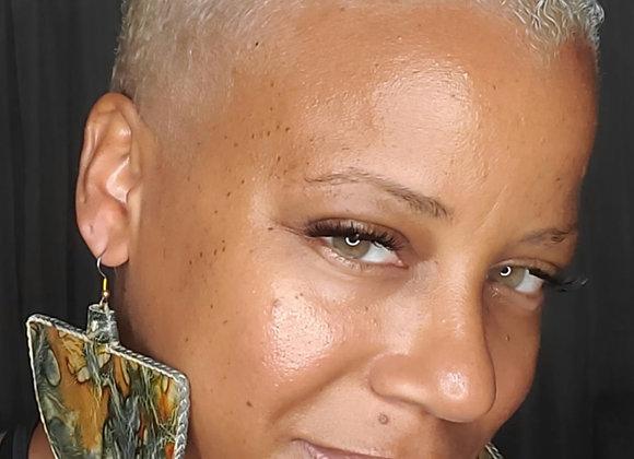 Tie-Dye Semicircle Earrings