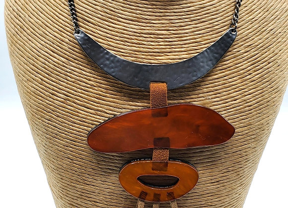 Acetate Pendant Necklace Set (Rustic)