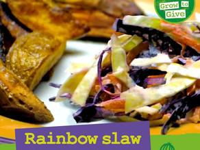 Rainbow Slaw & Wedges