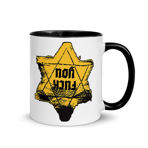 Gold Star F.U. (Original) Mug with Color Inside