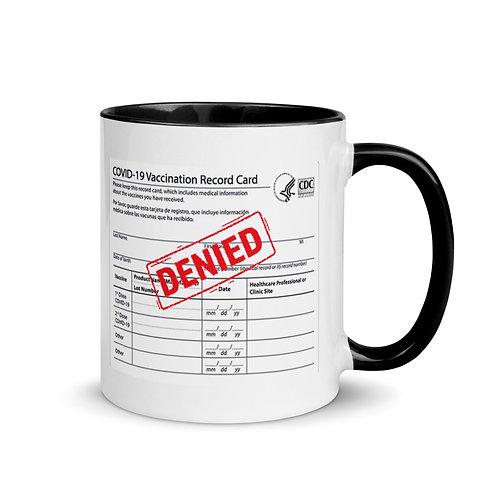 Covid Card Denied Original Mug with Color Inside
