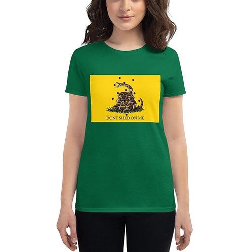 Gadsden Flag Don't Shed on Me (Color) Women's short sleeve t-shirt