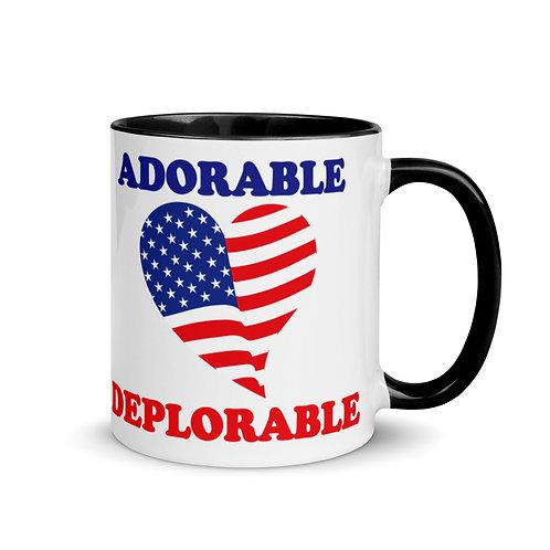 Adorable Deplorable Heart Flag Original Mug with Color Inside