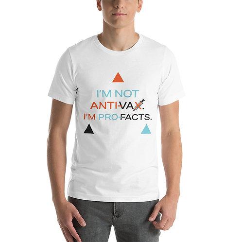 Not Anti Vax Clear Short-Sleeve Unisex T-Shirt