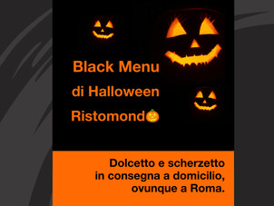 Il Black Menu di Halloween 2020 🎃